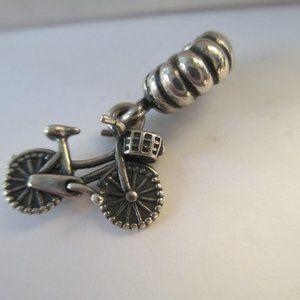 Retired Pandora bicycle silver charm